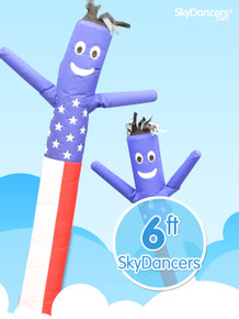 USA american flag sky dancer by SkyDancers.com