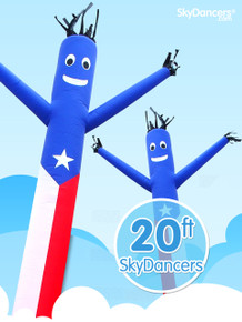 Sky Dancers Puerto Rican - 20ft