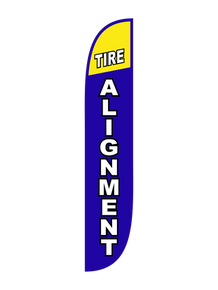 Tire Alignment Feather Flag