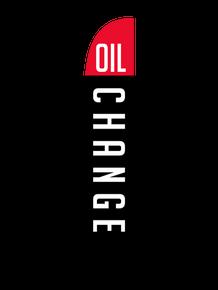 Oil Change Black Feather Flag