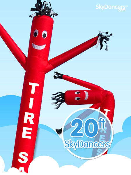 Sky Dancers Tire Sale Red - 20ft