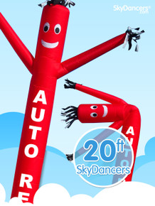 Sky Dancers Auto Repair Red - 20ft