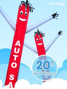 Sky Dancers Auto Sales Red & White - 20ft