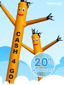 Cash 4 Gold Yellow Sky Dancers® Inflatable Tube Man 20ft