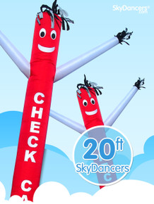 Sky Dancers Check Cashing Red & White - 20ft