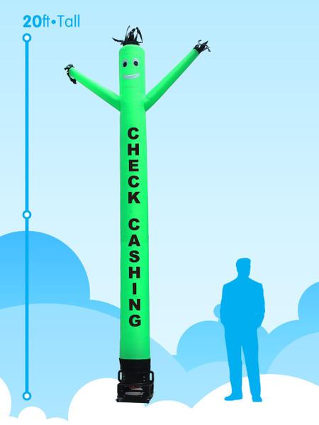 Sky Dancer Check Cashing Green - 20ft