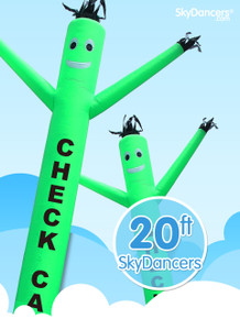Sky Dancers Check Cashing Green - 20ft
