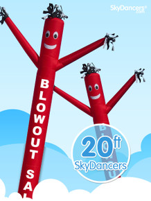 Sky Dancers Blowout Red & Yellow - 20ft