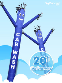 SkyDancers.com Car Wash Blue 20ft Attachment