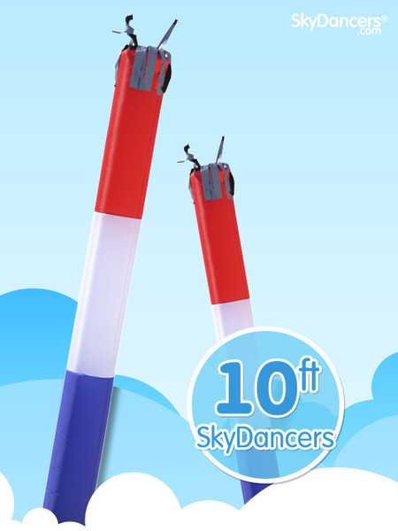 Sky Dancers Tube Red White & Blue - 10ft