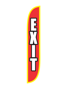 Exit Red 12ft Feather Flag