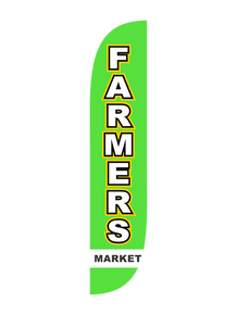 Farmers Market Feather Flag