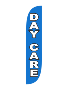 Day Care Blue Feather Flag