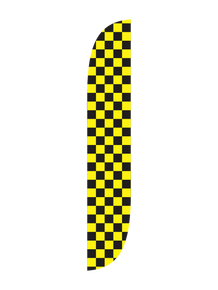 Black & Yellow Feather Flag