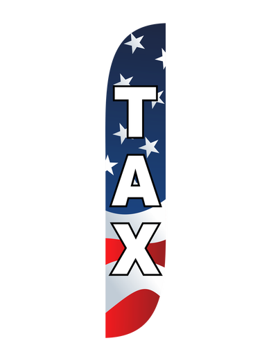 Tax American Flag Feather Flag