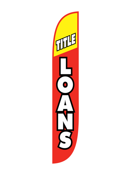 Title Loan - Red & Yellow Feather Flag