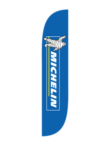 Michelin Blue Feather Flag
