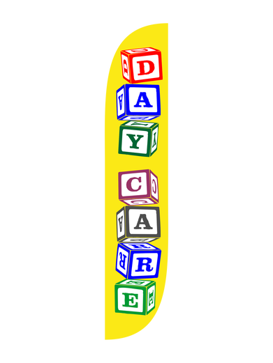 Day Care Blocks Feather Flag