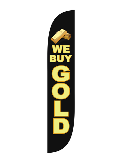 We Buy Gold Feather Flag