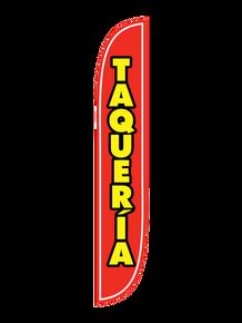 Taqueria Red Feather Flag