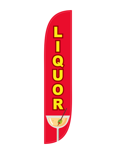 Liquor Feather Flag