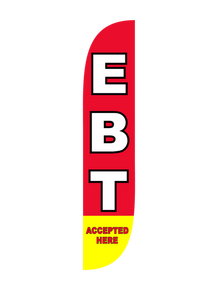 EBT Accepted Here Feather Flag