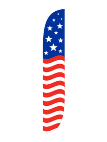 American Flag Horizontal Feather Flag