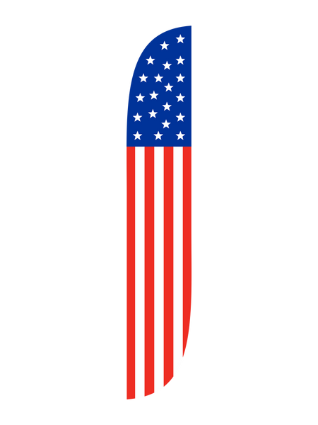 American Flag USA with Stars Feather Flag
