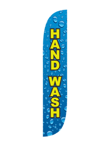 Hand Wash Water Drips Feather Flag