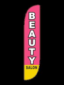 Beauty Salon Pink - Feather Flag