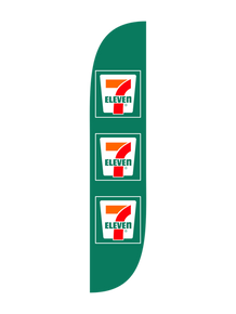 7 Eleven - Green - Feather Flag