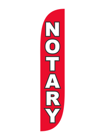 Notary Red Feather Flag