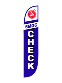 Smog Check Blue Feather Flag
