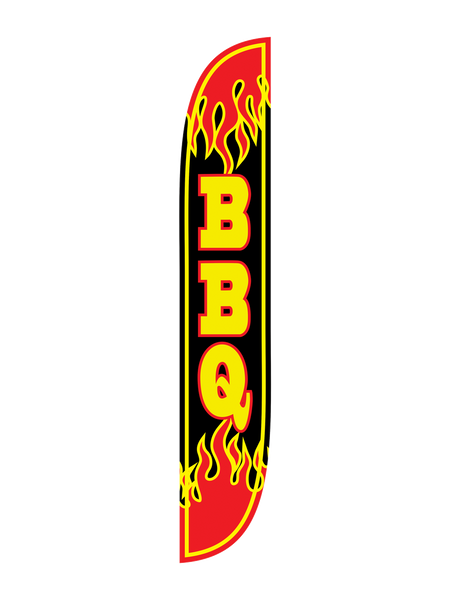 BBQ Flames Feather Flag