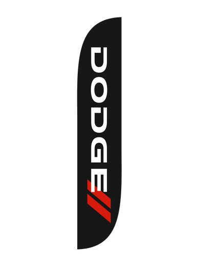 Dodge Black Feather Flag