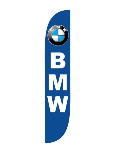BMW Blue Feather Flag