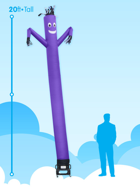 20ft SkyDancer® Purple Inflatable Advertising Product - A