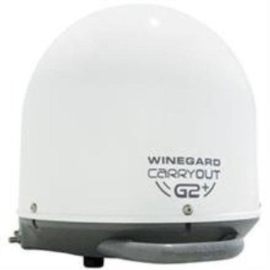 GM6000 Winegard White Portable Satellite TV Antenna