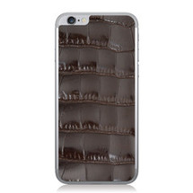 iPhone 6 Back Genuine Alligator Brown Glazed