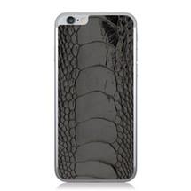 iPhone 6 Back Genuine Ostrich Leg Black Glazed