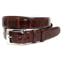 Genuine Alligator Belt Glazed Cognac