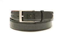 Genuine Crocodile Belt Glazed Black