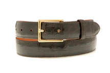 Genuine Crocodile Belt Glazed Brown