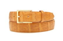 Genuine Crocodile Belt Matte Cognac