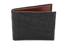 Slimfold Genuine Alligator Wallet Matte Black