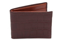 Slimfold Genuine Alligator Wallet Matte Brown