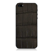iPhone 5 Back Genuine Alligator Black