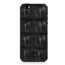 iPhone 5 Back Genuine Crocodile Backstrap Black