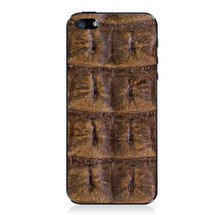 iPhone 5 Back Genuine Crocodile Backstrap Brown
