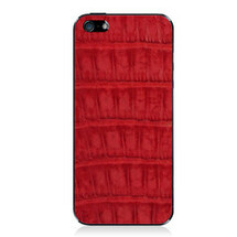 iPhone 5 Back Genuine Crocodile Red